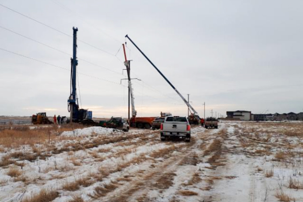 SaskPower QESS & QE18 Aspen Ridge Foundations